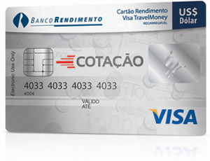 cartão pre pago visa travel money