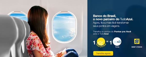 Dobro de pontos dos cartões de crédito do Banco Brasil por passagens aéreas