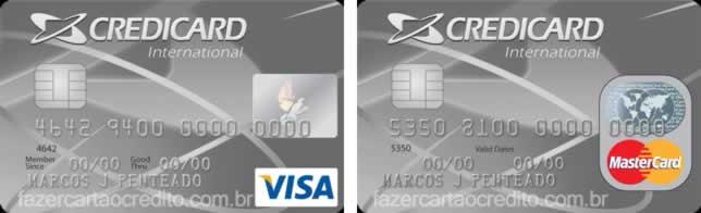 Credicard Internacional Mastercard e Visa
