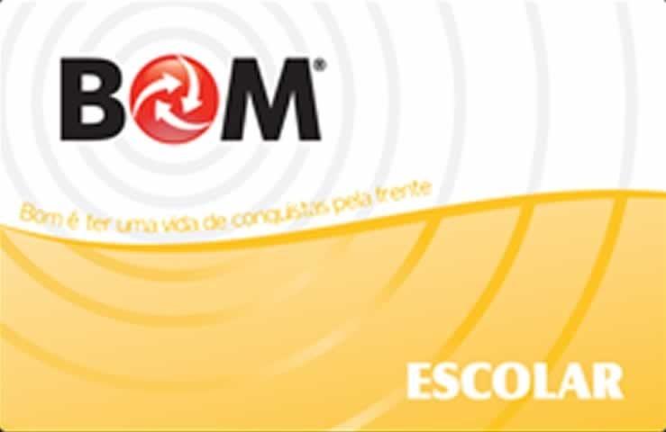 Cartão BOM Escolar: tranqüilidade para alunos e professores.