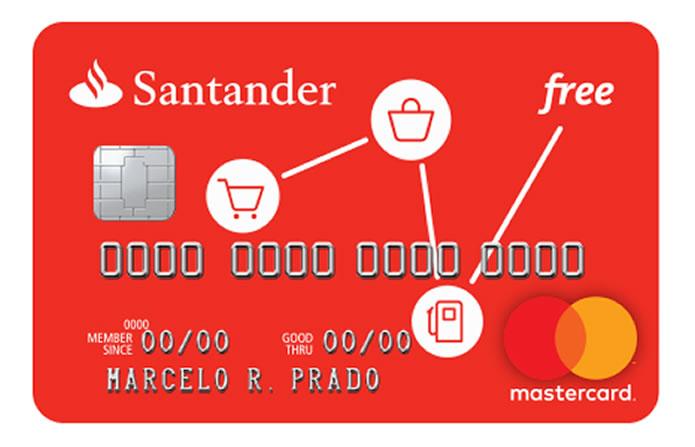 Santander Free: Cartão Sem anuidade