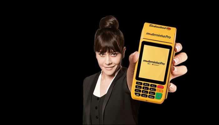 Máquina de cartão Moderninha Pro Pag Seguro Uol